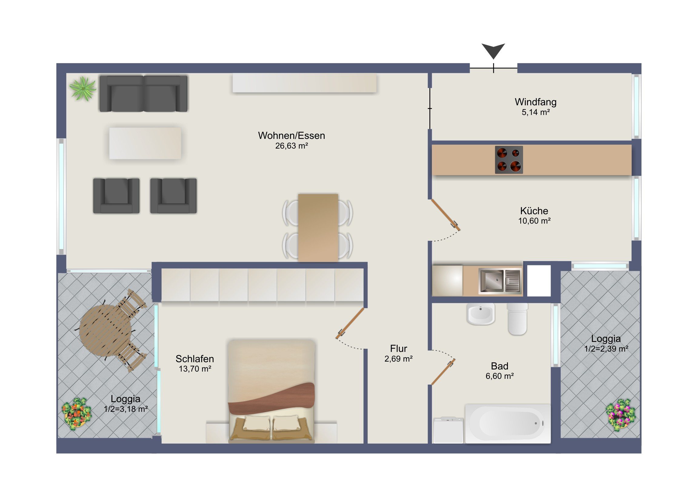 2 Zi-Wohnung in Starnberg